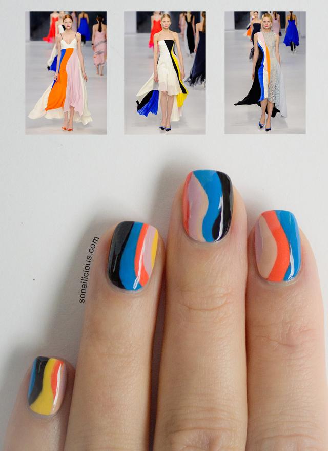 Thonj me dekorime për pranverë/verë Christian-dior-resort-2014-nails