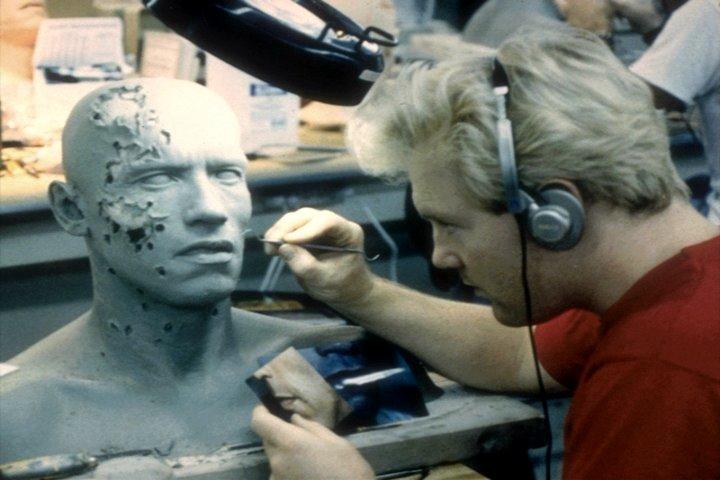 "Terminator (Arnold) ""Life size"" Masque T2-sfx-sculpting-010"