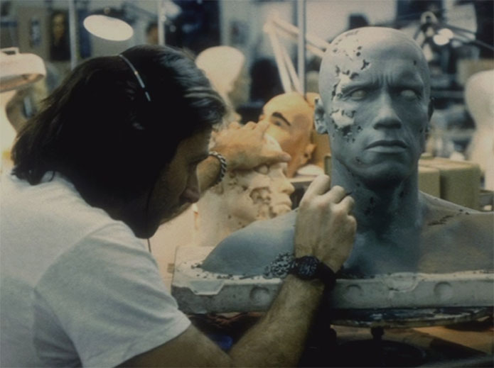 "Terminator (Arnold) ""Life size"" Masque T2-sfx-sculpting-037"