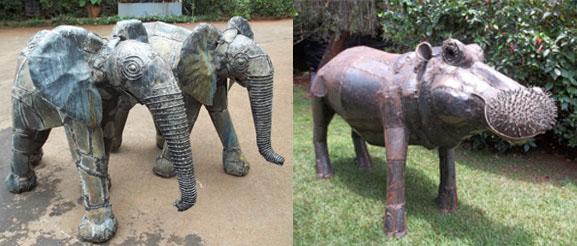 Art contemporain artistique Pimbi_elephant_hyppopotame