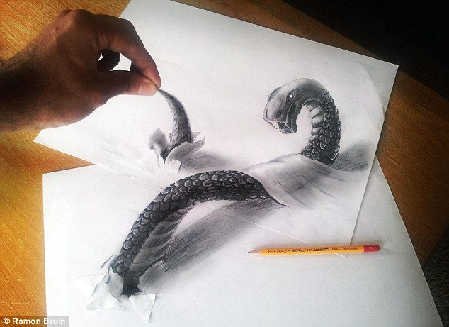 Великолепные 3D рисунки Ramon Bruin 194