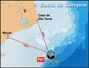 [Brasil] Helicóptero com três tripulantes cai na Bacia de Campos, no RJ  Platafoma_10