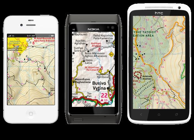 ViewRanger GPS - με χάρτες της Terrain  Vr_phones