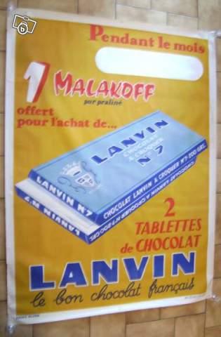 Les affiches du temps passé quand la pub s'appelait réclame .. - Page 5 Affiche_Chocolat_Lanvin