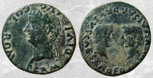 Dupondio hispanorromano de Augusto (COLONIA ROMULA) Romula