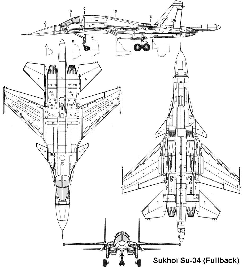 موسوعة اجيال الطائرات المقاتلة واشهر طائرات كل جيل - صفحة 10 Sukhoi_su34_3v
