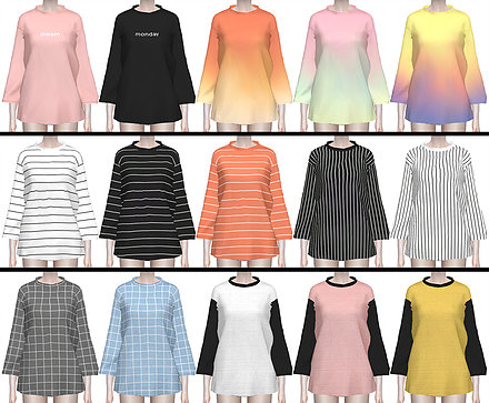 ••.•´¯`•.••【the sims 4】up#1 แจกเสื้อผ้าสไตล์เกาหลี ••.•´¯`•.••   00315588