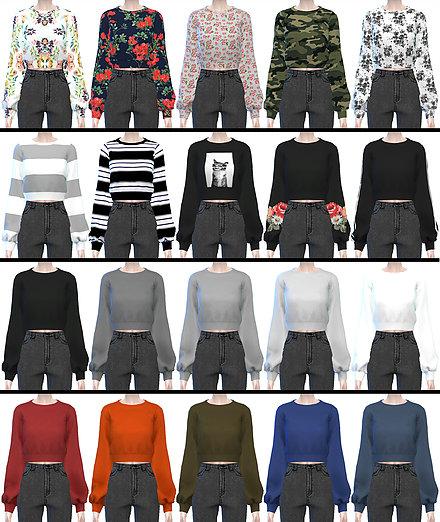 ••.•´¯`•.••【the sims 4】up#1 แจกเสื้อผ้าสไตล์เกาหลี ••.•´¯`•.••   00315590