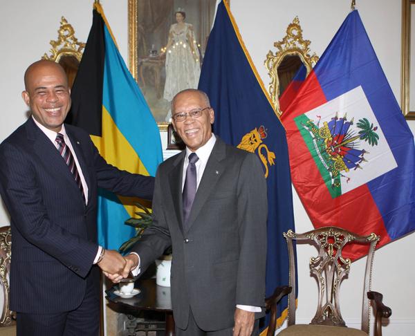 Haïti Président Martelly Accusé d'Ingérence dans la Politique des Bahamas Greet