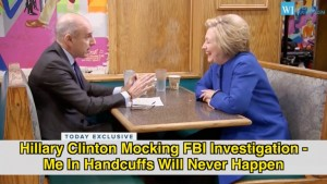 Topics tagged under 2 on Established in 2006 as a Community of Reality - Page 7 Hillary-hancuffs-Clinton-Mocks-FBI-Investigation-Youll-Never-See-Me-In-Handcuffs-300x169