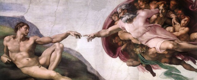 Purificazione aura e avvertenze con persone e negatività Michelangelo-creazione-di-adamo-640x260