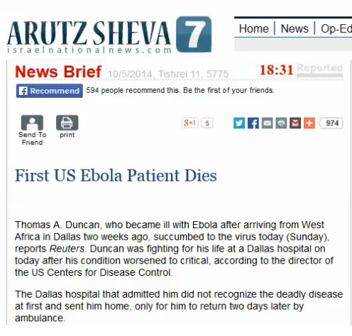 Three Ebola Stories the Mainstream Media Literally Scrubbed From the Internet Arutzshevascreencap