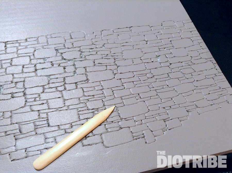Scratchbuild - Blacksmith's workshop - Page 2 Diorama-stone-wall-tutorial-1