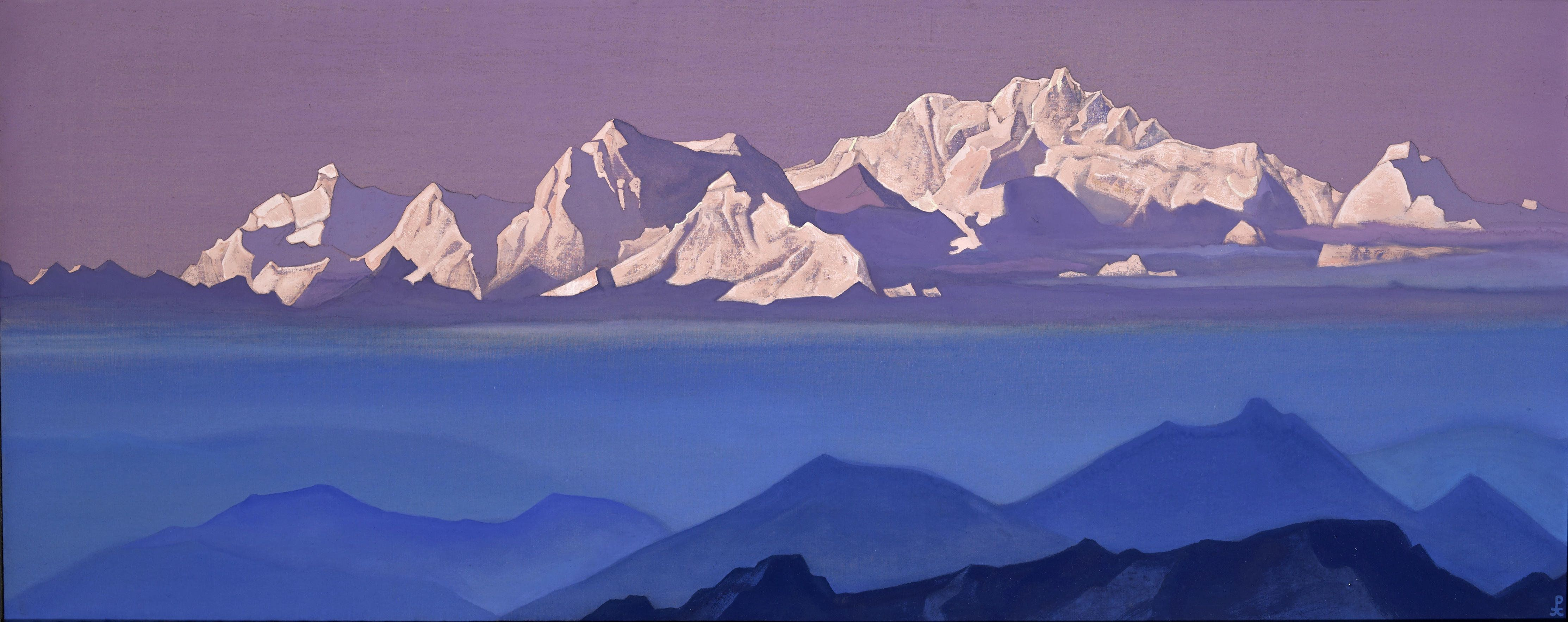 Nicolas Roerich [Peintre] Lot-23-Roerich-Russian-1874-1947-Kanchenjunga