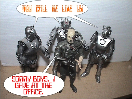 Cyberman Figure Review Cyberborg