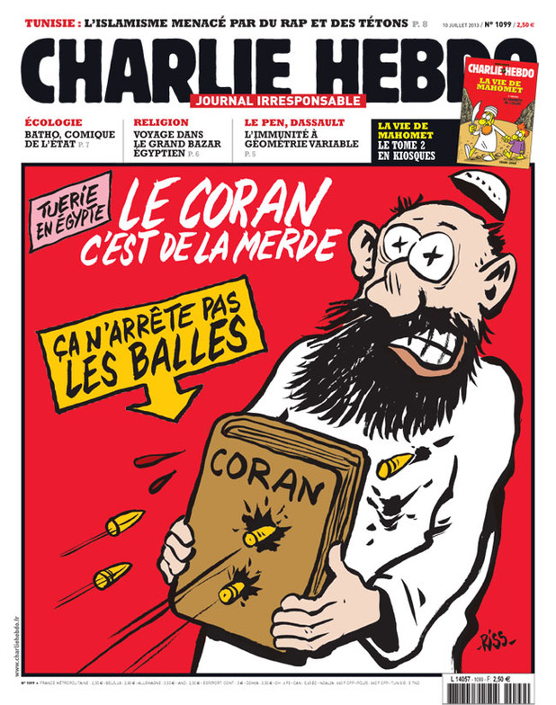 France Foreign Policy and Diplomacy - Page 12 Charlie-hebdo-le-coran-cest-de-la-merde