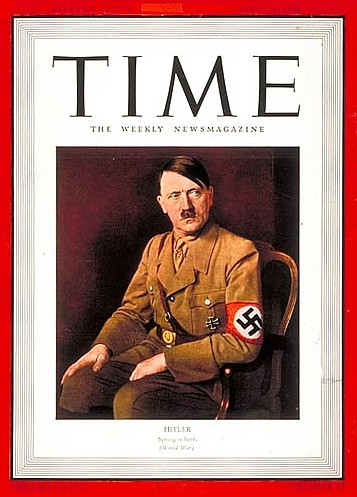 "Kim Jong-un, persona del año para los lectores de ""Time"" Hitler-time-man-of-the-year"