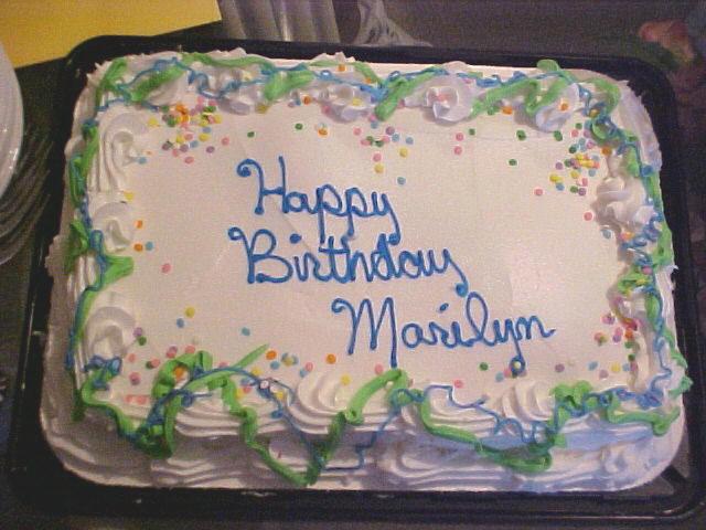 Happy Birthday, Marilyn! 61cake