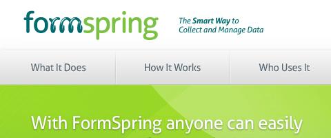 Những công cụ, website cần thiết phục vụ thiết kế web  Form-spring