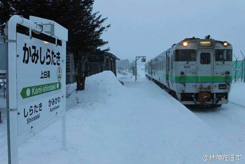 ஒரு மாணவிக்காக இயங்கும் ரயில்! Japan-station7_820_cctv