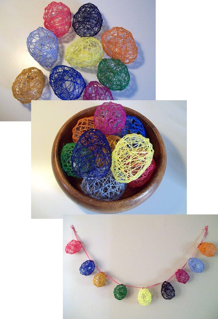 Los huevos de cadenas Make-string-eggs-easter-step10