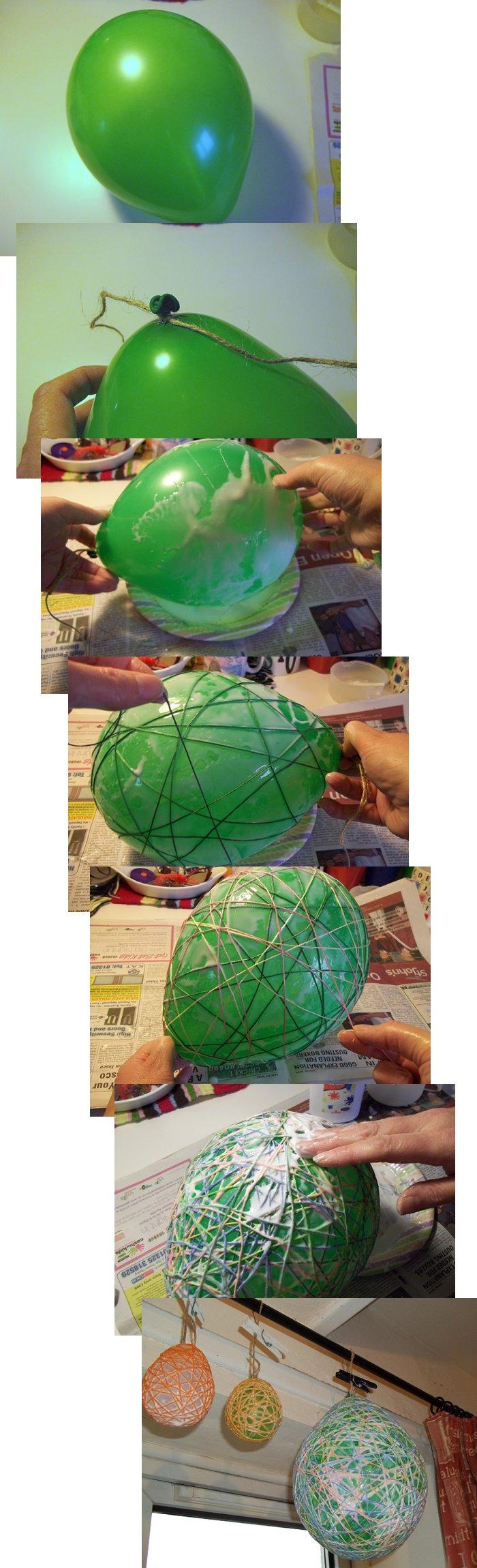 Los huevos de cadenas Make-string-eggs-easter-step1b
