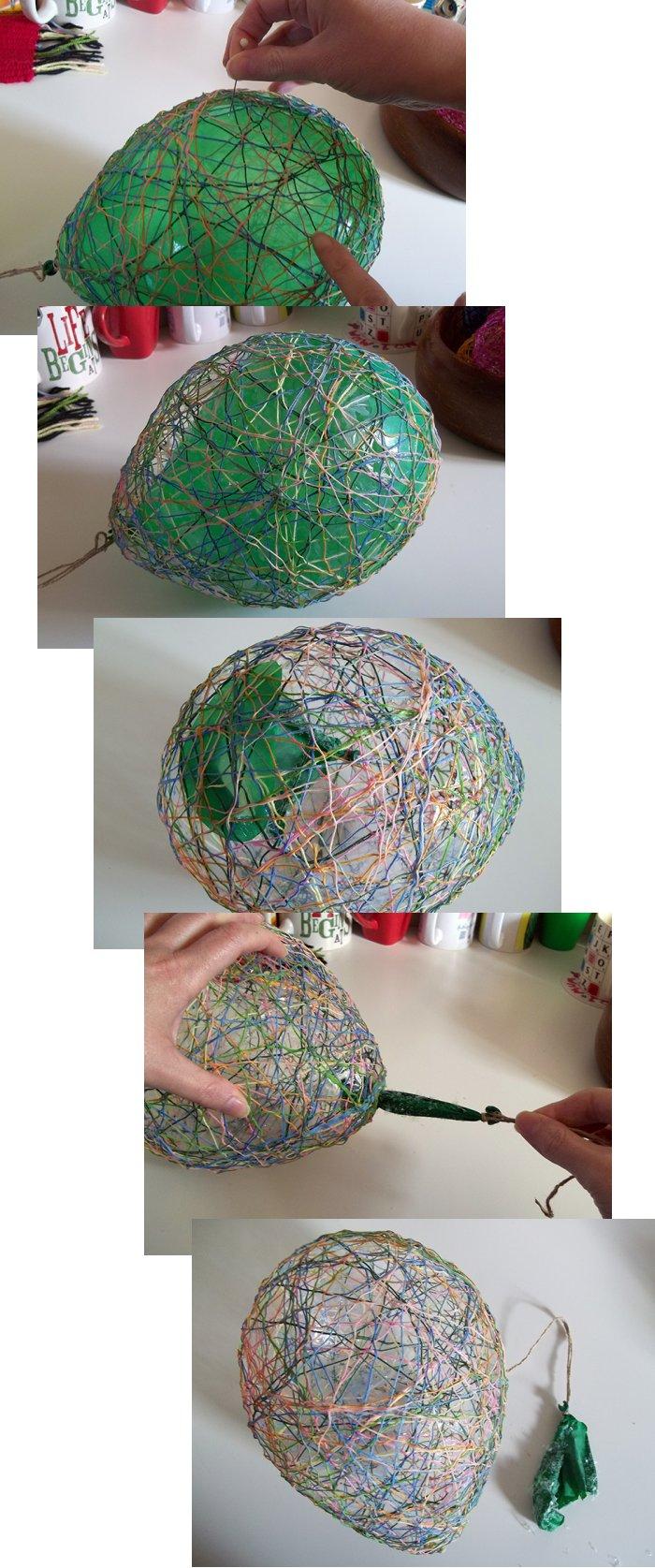 Los huevos de cadenas Make-string-eggs-easter-step2b
