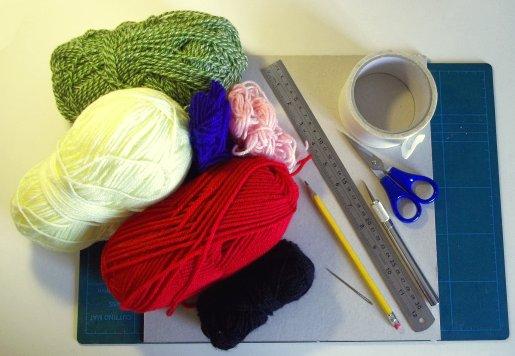 Tejido en telar de fabricación casera sencilla Basic-weaving-with-a-homemade-loom-needed