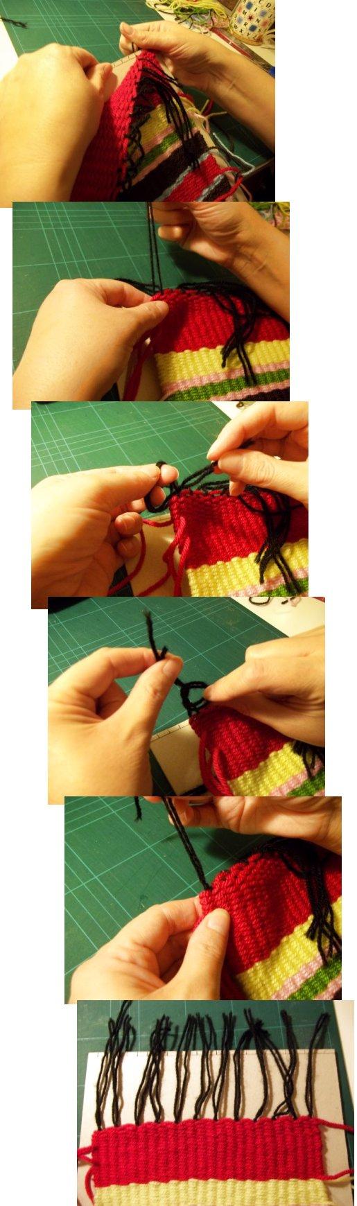 Tejido en telar de fabricación casera sencilla Basic-weaving-with-a-homemade-loom-step10