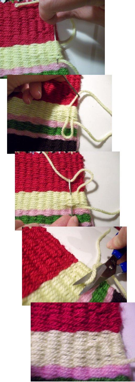 Tejido en telar de fabricación casera sencilla Basic-weaving-with-a-homemade-loom-step13