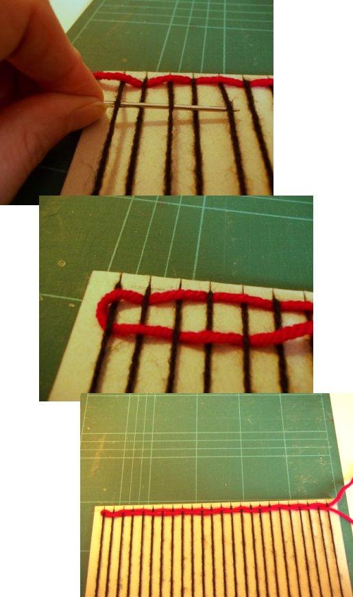 Tejido en telar de fabricación casera sencilla Basic-weaving-with-a-homemade-loom-step6