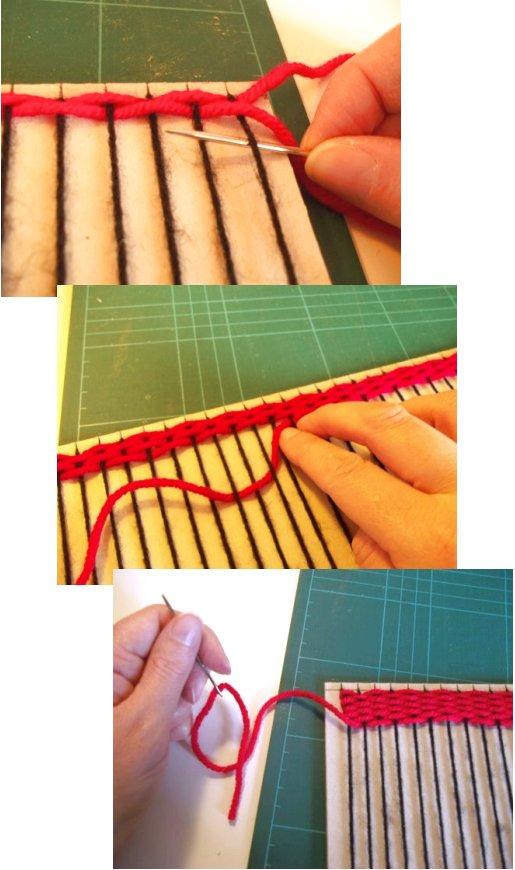 Tejido en telar de fabricación casera sencilla Basic-weaving-with-a-homemade-loom-step7