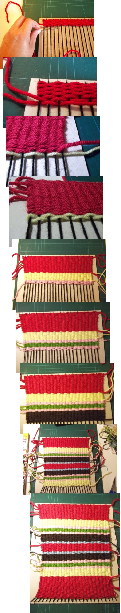 Tejido en telar de fabricación casera sencilla Basic-weaving-with-a-homemade-loom-step8