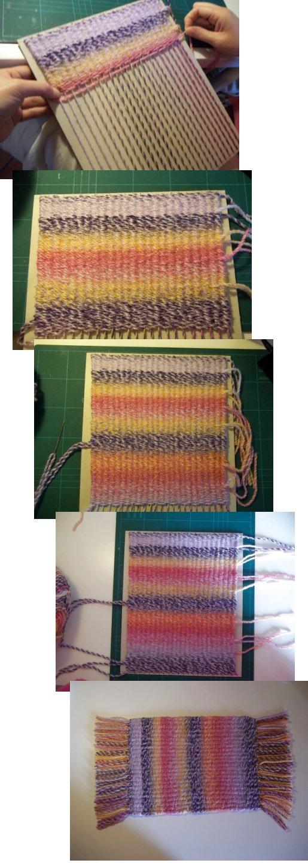 Tejido en telar de fabricación casera sencilla Basic-weaving-with-a-homemade-loom-top-tip