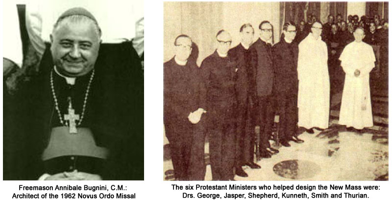 La NUEVA MISA, por Louis Salleron - Page 2 Masonic-architects-novus-ordo-mass-bugnini-lutheran-priests