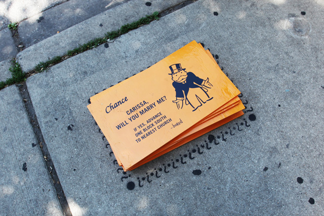 New Street Artist 'Bored' Turns Chicago Sidewalks into Monopoly Game Bored-3