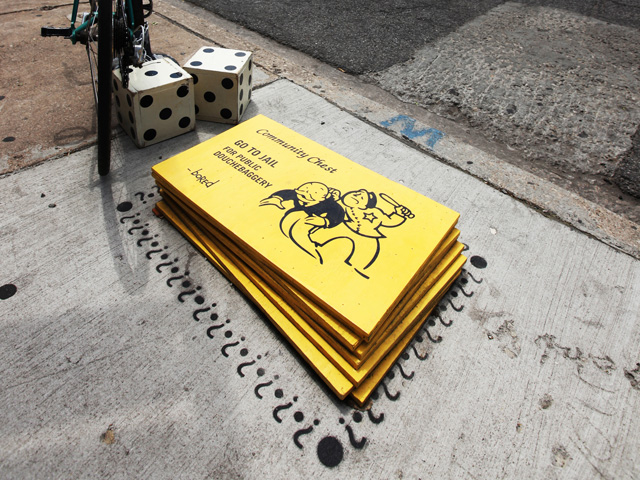New Street Artist 'Bored' Turns Chicago Sidewalks into Monopoly Game Bored-6