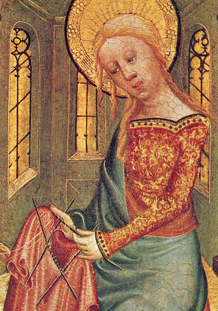 The History of Knitting. Knitting-madonna
