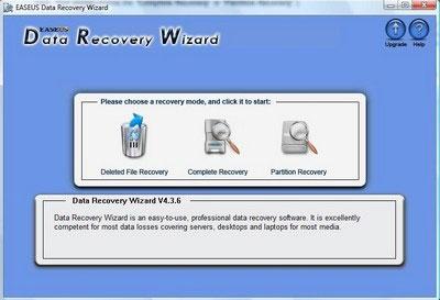 Khôi phục dữ liệu bị xóa nhầm DataRecoveryWizard