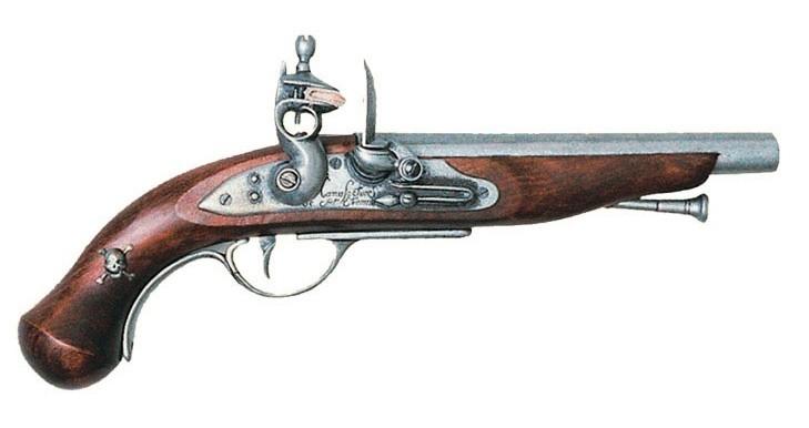 Ficha de Frank Morgan Pistola-pirata-francesa-pedernal-siglo-XVIII