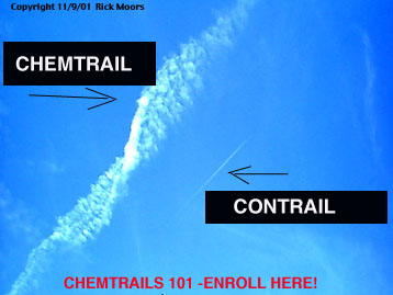 Chemtrails - Gjurme kimike Chemtrail-contrail