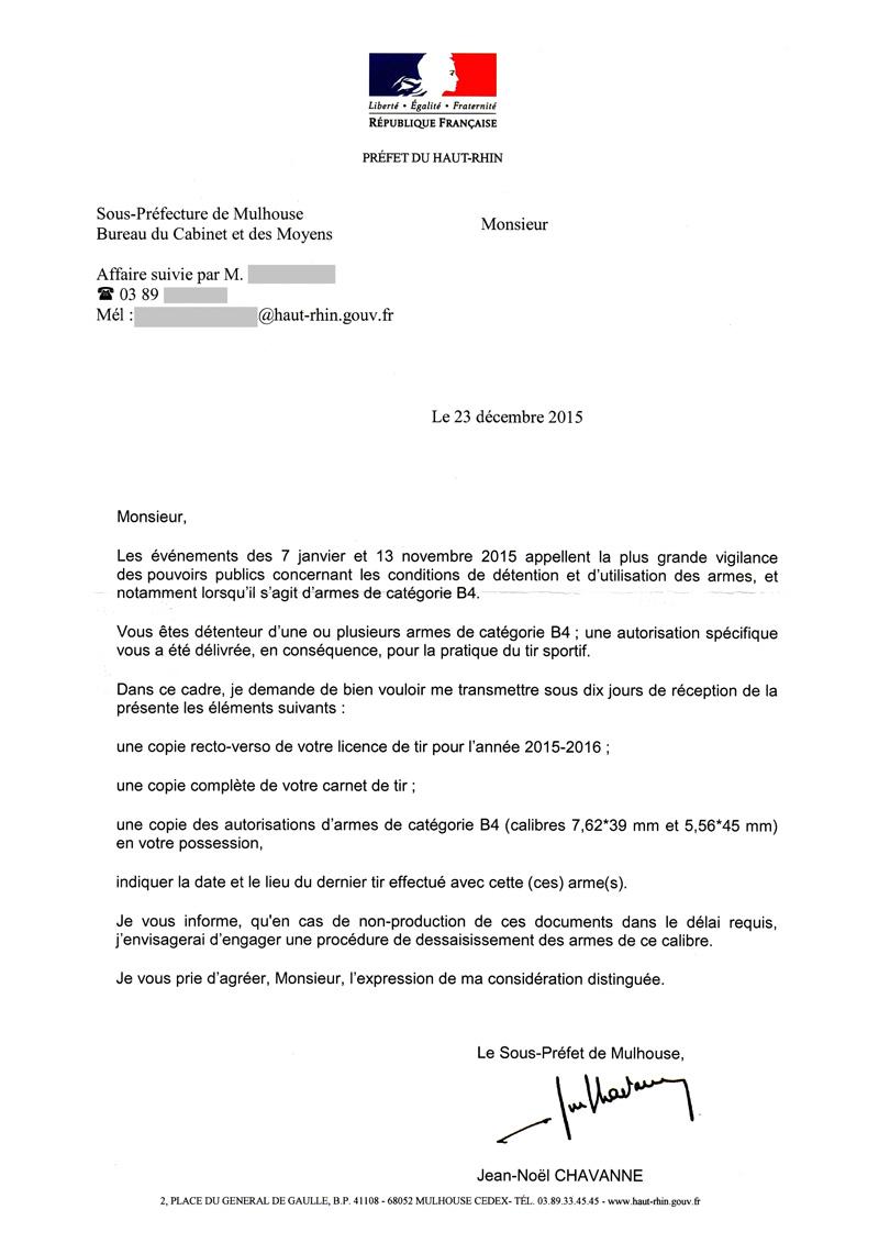 [RESTITUTIONS] Préfecture DU HAUT-RHIN ... Courrier_mulhouse_tireurs