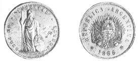 Argentina (Buenos Aires), 1 Peso Fuerte, 1879. Moneda40