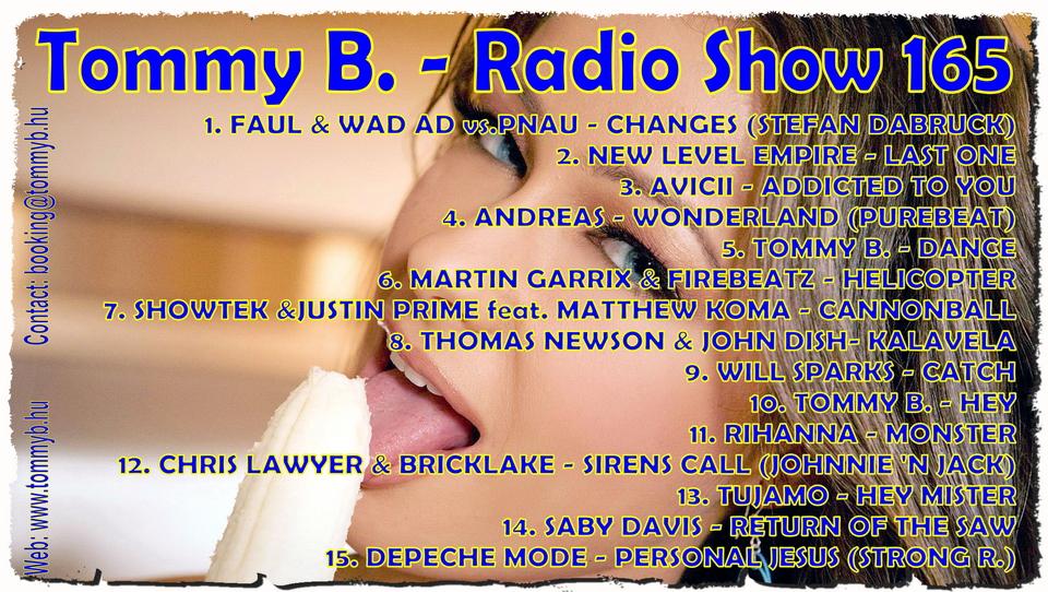 Tommy B. - Radio Show 165 Radio_show_165