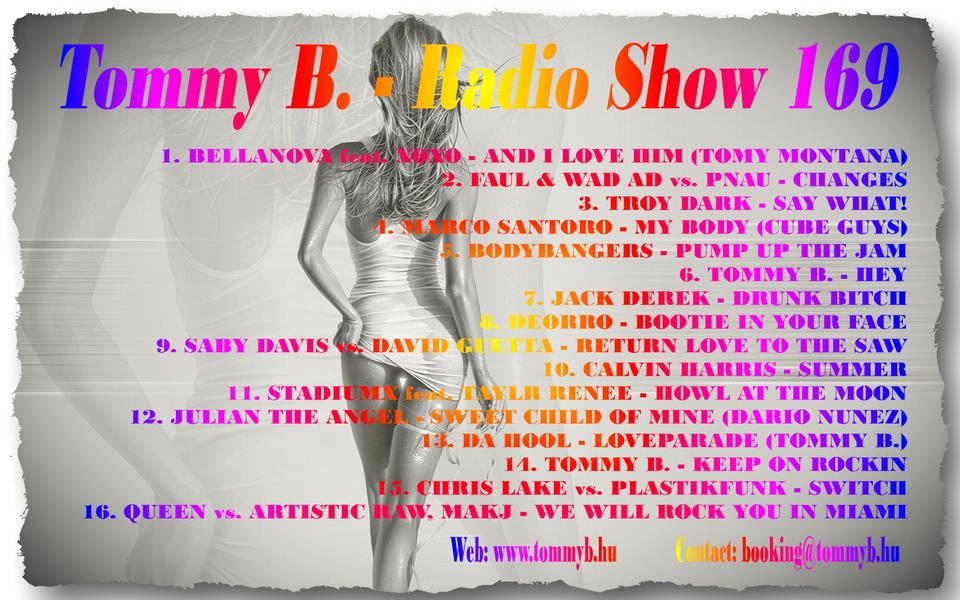Tommy B. - Radio Show 169 Radio_show_169