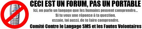 [A LIRE] Règlement du forum Forum-sms