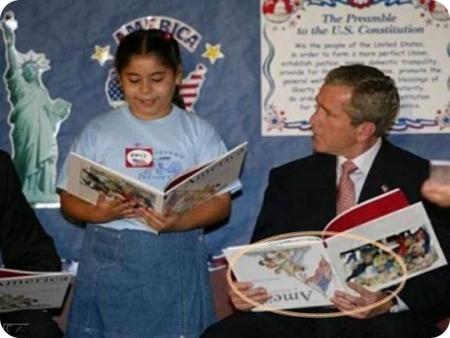 [Politique] Présidentielles 2012, responsabilité civique et FN - Page 3 Bush-lisant