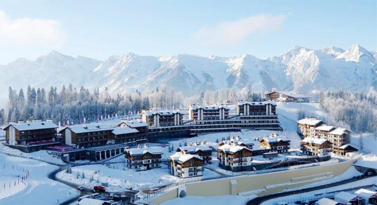 """Горнолыжный курорт Красная поляна - Альпы """"отдыхают' Gazprom2"""