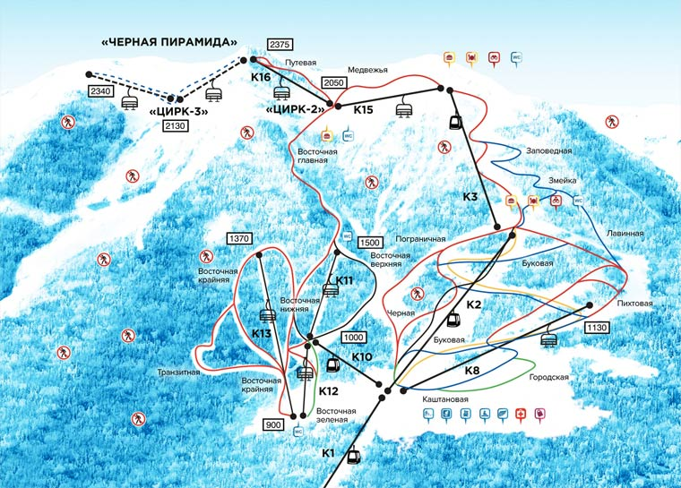 "Горнолыжный курорт Красная поляна - Альпы ""отдыхают' Gorki-gorod"