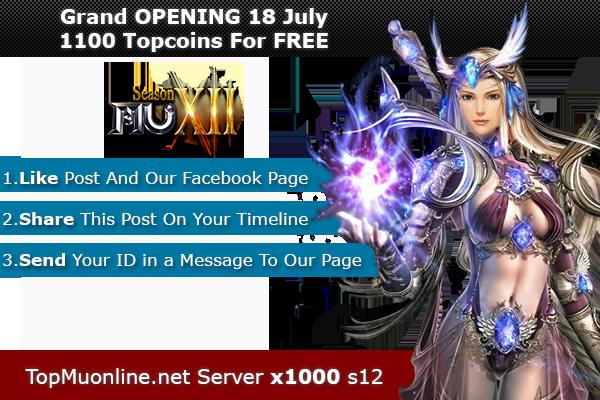 TOP Mu Onine | S12 | Exp x1000-x100 | Nice Gameplay - OPENING 16 JULY! 1100xy9